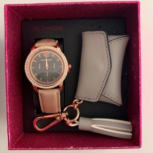 Rocawear rose gold watch and keychain